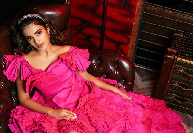 Pic Talk : Sizzling Nidhhi Agerwal in Pink gown
