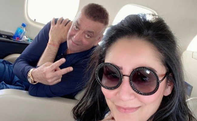 Sanjay Dutt along with his wife heads to Dubai
