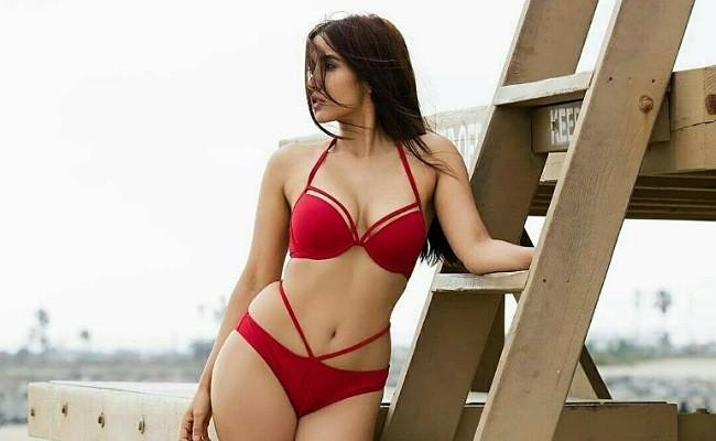 actress niyanta acharya flaunts her sensuous curves in red bikini