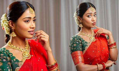 Nivetha Pethuraj in Saree