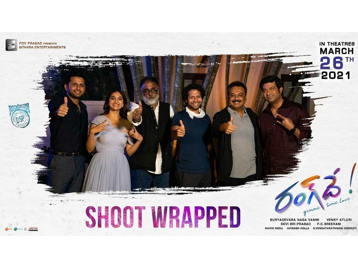 Nithiin RangDe shoot wrapped