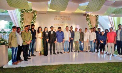 Megastar and Rajamouli launches ramcharan